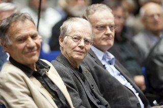 mit Friedrich Schorlemmer und Volker Braun bei einer Veranstaltung der Friedrich Ebert-Stiftung Berlin